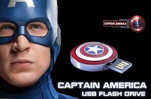 Captain America Shield Avengers novelty 32GB USB 2.0 flash drive memory stick