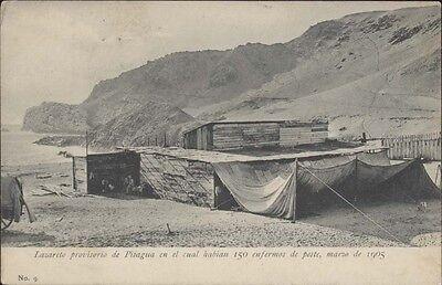 Chile Pisagua Lazareto Provisorio En El Cual Habian 150 Enfermos De Peste 1905