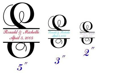 Custom Split Letter Wedding Monogram.Great for gifts, party favors - Gifts For Wedding Party