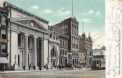 Newark Nj Howard Savings Bank On Broad Street Udb Postcard C1907