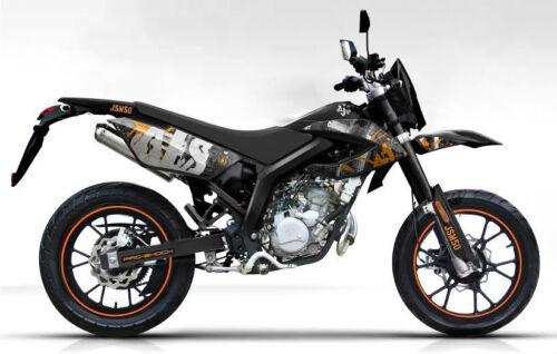 ajs jsm 50cc motorbike 2 stroke supermoto motorcross motorcycle learner legal ebay. Black Bedroom Furniture Sets. Home Design Ideas