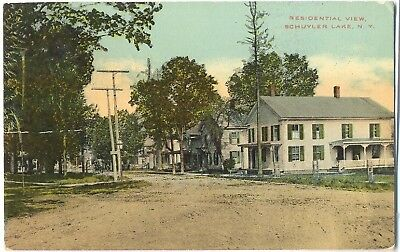 Schuyler Lake Ny   Residential View   Postcard