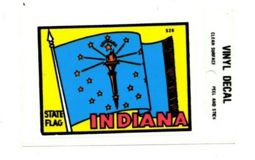 Lot of 12 Indiana State Flag Souvenir Decals Stickers - New - Free Shipping