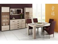 Delivery 2-4 days Latina table with 4 or 6 chairs is beautiful and functional FREE DELIVERY