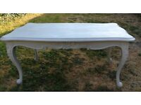 Vintage upcycled hand painted grey wooden coffee table