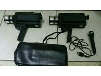 Bell&howell autoload 2x cameras one got case and mic!found in attic!untested!can deliver or post!