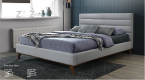Scala Range Upholstered Queen Bed (Brand New) #8858