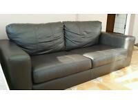 Large Brown Leather 3 seater sofa, money to help start a charity to help disabled people