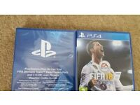 Fifa 18 and Ultimate team Rare Players pack and 3 Icon Loan Players + 14 day Playstation Plus trial