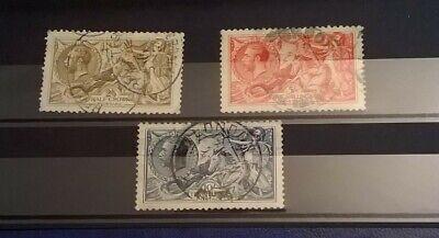 GB SC 179-181* SG 413a-417 KGV 1918  SEA HORSE SET XF Hi Values Collection  Lot