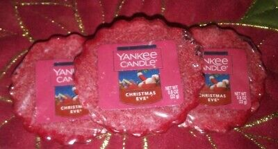 Lot of 3-Yankee Candle CHRISTMAS EVE Wax Tart Melts, Customer Favorite!!