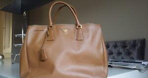 Genuine Prada 2way Saffiano Lux Leather Caramel Tote Bag Mentone Kingston Area Preview
