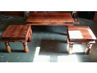 Set of 3 Outstanding Quality Heavy Mexican Tables, money to help start a charity for disabled people