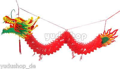 Neuheit Deko Drache Glücksbringer Fengshui 100 cm
