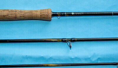 "HARDY SHADOW 9' 6"" #7 FLY ROD FOUR PIECE USED NEAR MINT PERFECT WORKING ORDER"