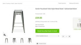 3 high bar stools - Xavier Pauchard Tolix style