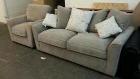 New 3 seater sofa and armchair only £289
