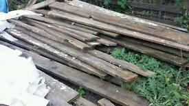 Job lot of scaffolding boards used but good wood