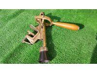 Brass Worktop Corkscrew / Bottle Opener