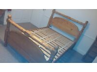 Gorgeous Solid OAK double bed frame