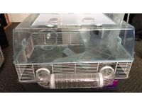 Large Hamster Cage with all accessories, food, sawdust, wheel etc. Perfect hamster starter kit