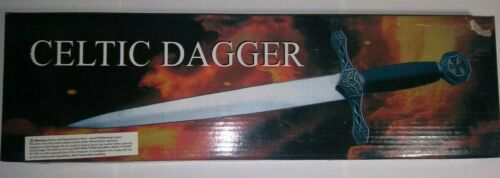 """15"""" Celtic Athame Dagger Wicca Wiccan Pagan Ceremonial Knife Altar Tool Display"""