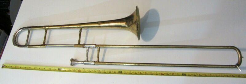 Getzen TROMBONE 33 vintage antique estate 12753 w/ RMC #8 - old and worn horn