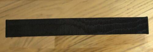 Bracelet pour montre poiray en tissus noir moirÉ 15 mm largeur @ strap 114 mm