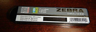 Pack Of 12 0.5mm Leads For Zebra M-301 Stainless Steel Mechanical Pencils New