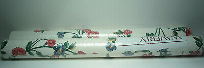 2 Rolls - WAVERLY - Vintage 1980's Wallpaper / Wall Covering - Red & Blue -