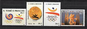 Sao-Tome-and-Principe-1988-Olympic-Games-Seoul-88-and-Barcelona-92-lot-MNH