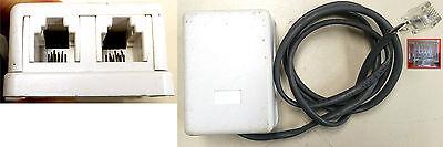 4 Pin 2 Conductor RJ11 Modular Telco DSL Telephone Jack Phone Splitter 4P2C Box 4 Conductor Modular Jack