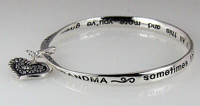 Prayer Bracelets (4031284 Grandma Tribute Prayer Twisted Bangle Bracelet Christian Gift)