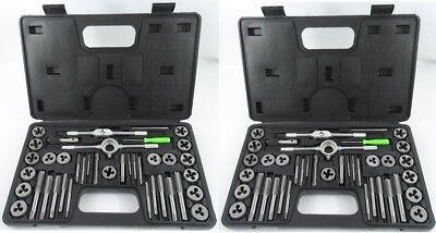 80pc SAE & Metric Tap & Die Set w/ Cases Standard Screw Extractor Thread Kit (Threading Set)