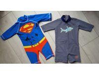 2 boys swimming costumes, John Lewis & Tu