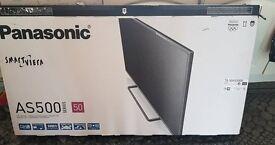 """Panasonic Smart Viera AS500 50"""" TV with remote & box"""