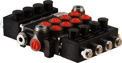 4 Spool Hydraulic Solenoid Directional Control Valve 13gpm 12vdc Monoblock
