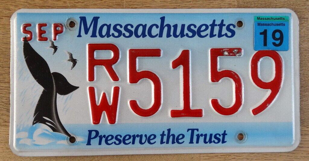 Nummernschild USA Kennzeichen MASSACHUSETTS Wal Grafik RW 5159 WHALE TAIL