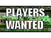 Footballers wanted