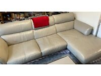 DFS Leather Sofa - £750, 3 pieces - RH Chaise End, Armchair and footstool