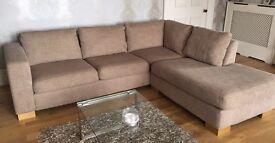 Neutral/Beige John Lewis Corner Sofa and Armchair