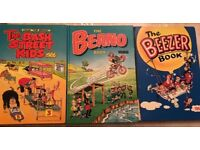 Beano, Bash Street Kids and Beezer comic book annuals