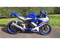 2008 Suzuki GSXR750K-8, low mileage example, may consider px or swap