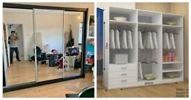 💯 Beautiful Chicago sliding door mirrored Wardrobe in many options with Express Delivery ✨💯