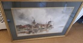 original watercolour painting, listed Dutch artist