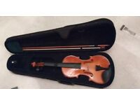 Violin with new strings (old ones included) Excellent Condition with Case and Resin