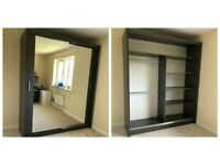 """🌽Sale Offer - Brand New🌽 """"CHICAGO""""🌽 Double Mirror Sliding Wardrobe - Fast Delivery🌽"""