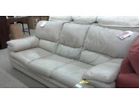 Leather suite comprising of a 3 seater sofa and armchair