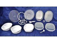 Microwave Bundle inc Glass Rotating Plates and Plastic Bowls
