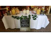 Sweet Cart Glass Jars (unused or used once) perfect for wedding or partys
